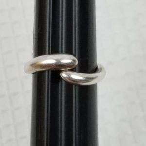 925 Sterling Silver Wave Bypass Wrapping Ring